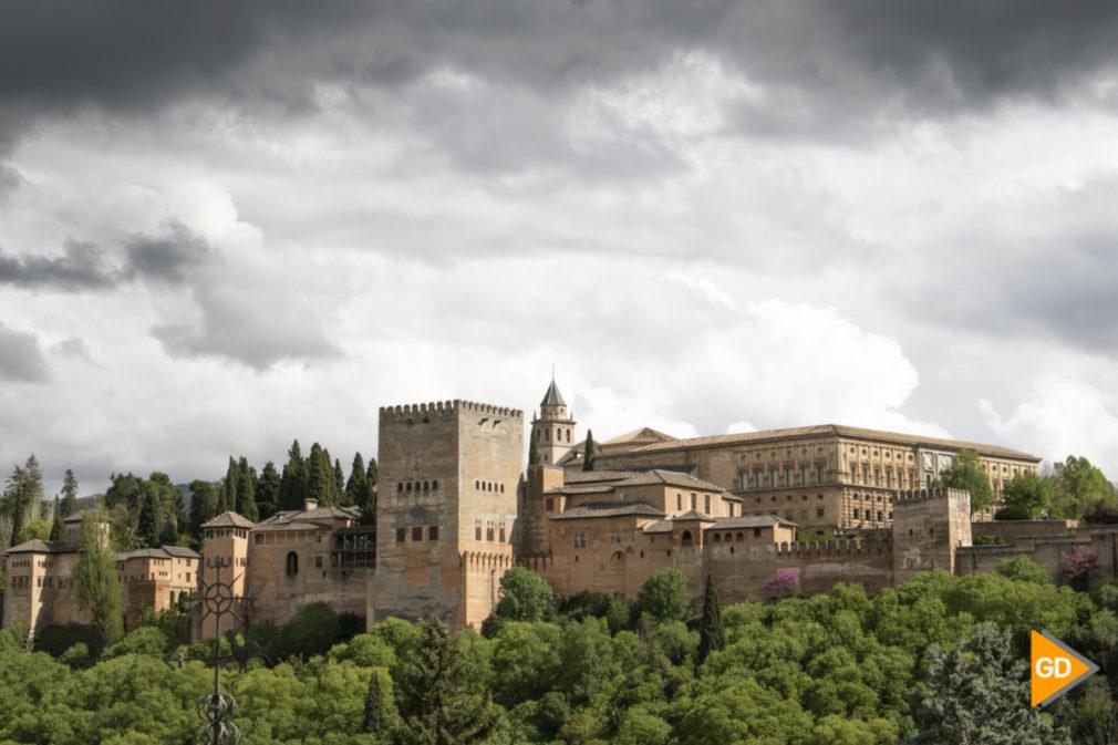 Alhambra niebla primavera tiempo nubes_-2