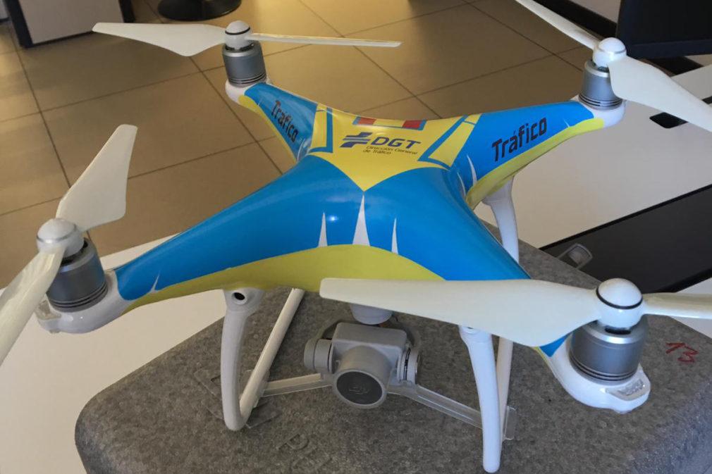 Dron tráfico