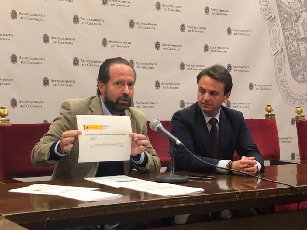 Los concejales del PP Francisco Ledesma y Juan Antonio Fuentes