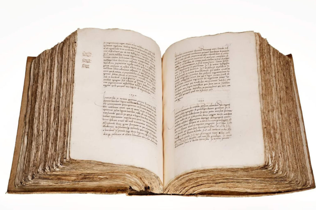 Manuscrito del siglo XVI del Libro de los Epítomes