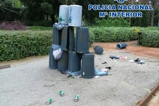 acto vandalico zaidin