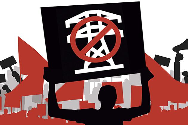 manifestacion Di no a las torres de alta tension