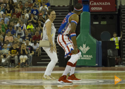 Espectáculo de los Harlem Globetrotters en el palacio de los deportes de Granada