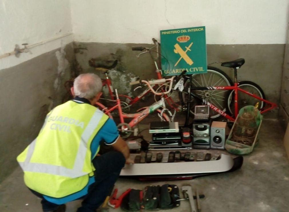 Bicicletas recuperadas tras un robo