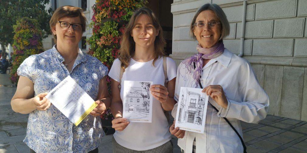 Leticia García Panal, Marta Gutiérrez y Lola Ruiz
