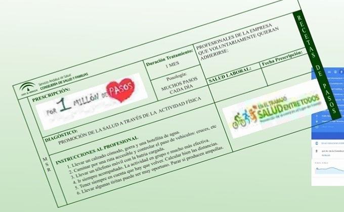 Cartel de la marcha 'Un millón de pasos por la salud'