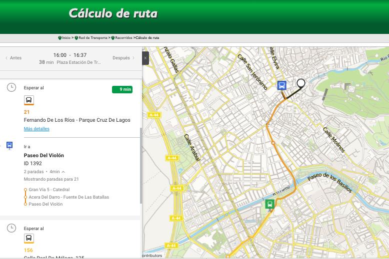 planificador rutas