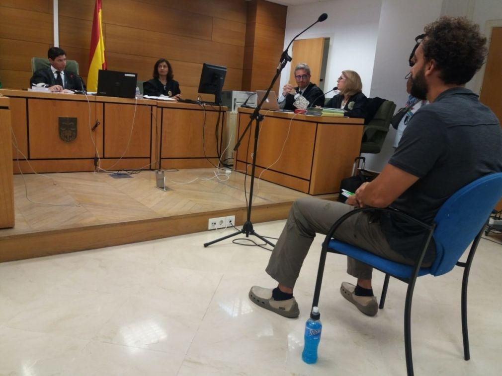 Spiriman durante el juicio en Granada por las declaraciones sobre Susana Díaz