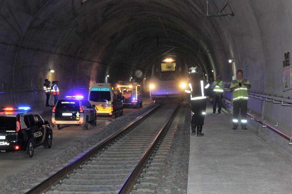 Interior túnel de Archidona