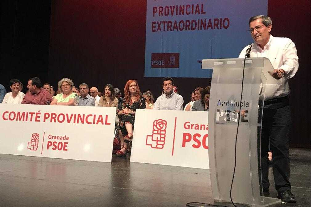 José Entrena, durante su intervención en el Comité del PSOE