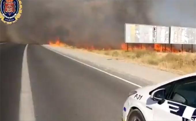 incendio camino de los yeseros