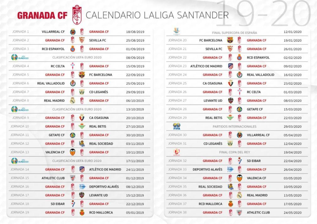 Calendario Liga Bbva 2020.Calendario De La Liga Santander 2020 2020