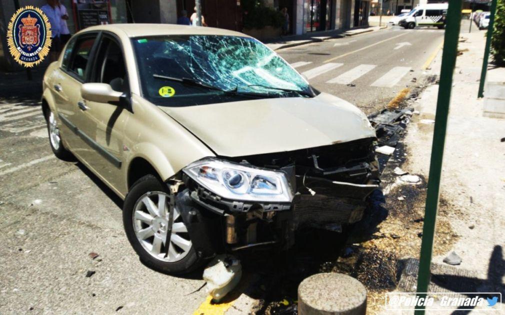 accidente coche granada