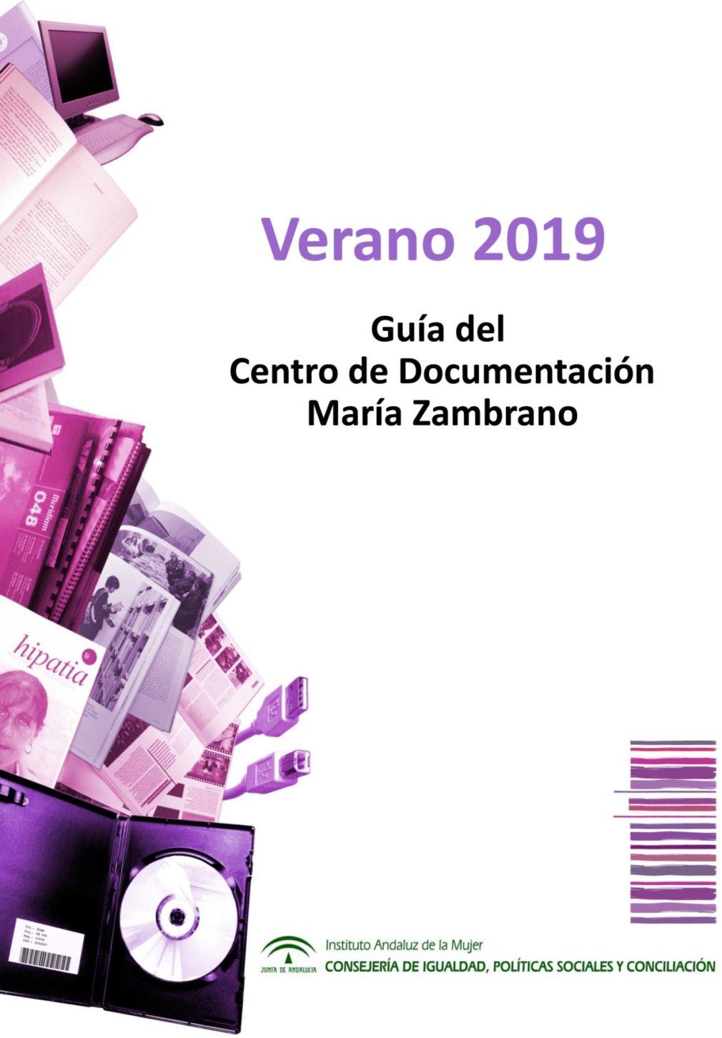 GUIA DE VERANO DEL CENTRO DE DOCUMENTACION MARIA ZAMBRANO 2019