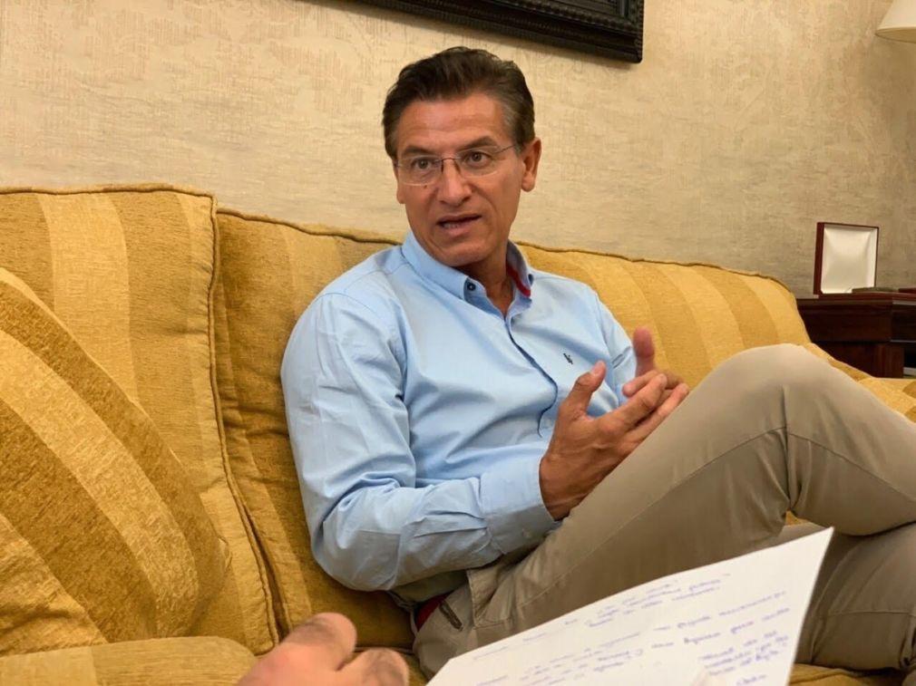El alcalde de Granada, Luis Salvador, en una entrevista con Europa Press