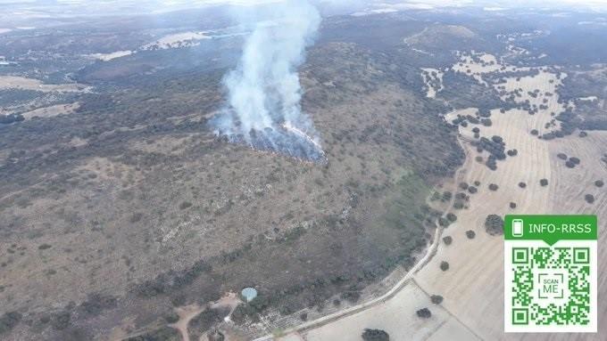 Incendio declarado en Agrón