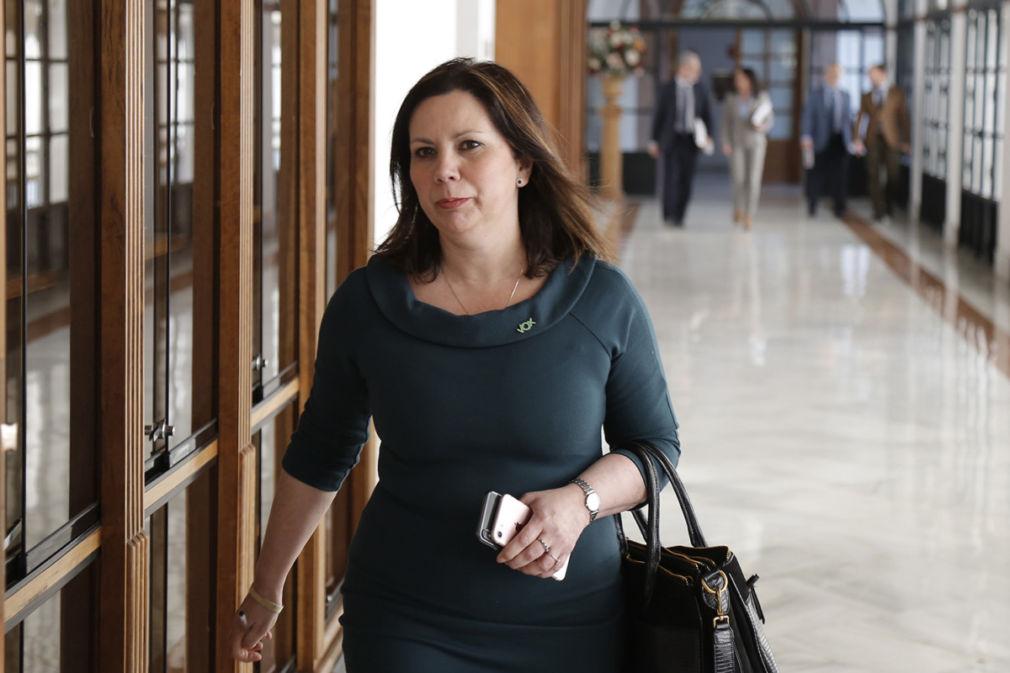 Sesión constitutiva de la comisión de investigación parlamentaria sobre la extinta Fundación Andaluza del Fondo de Formación y Empleo. La diputada del grupo parlamentario Vox, Ángela Mulas,