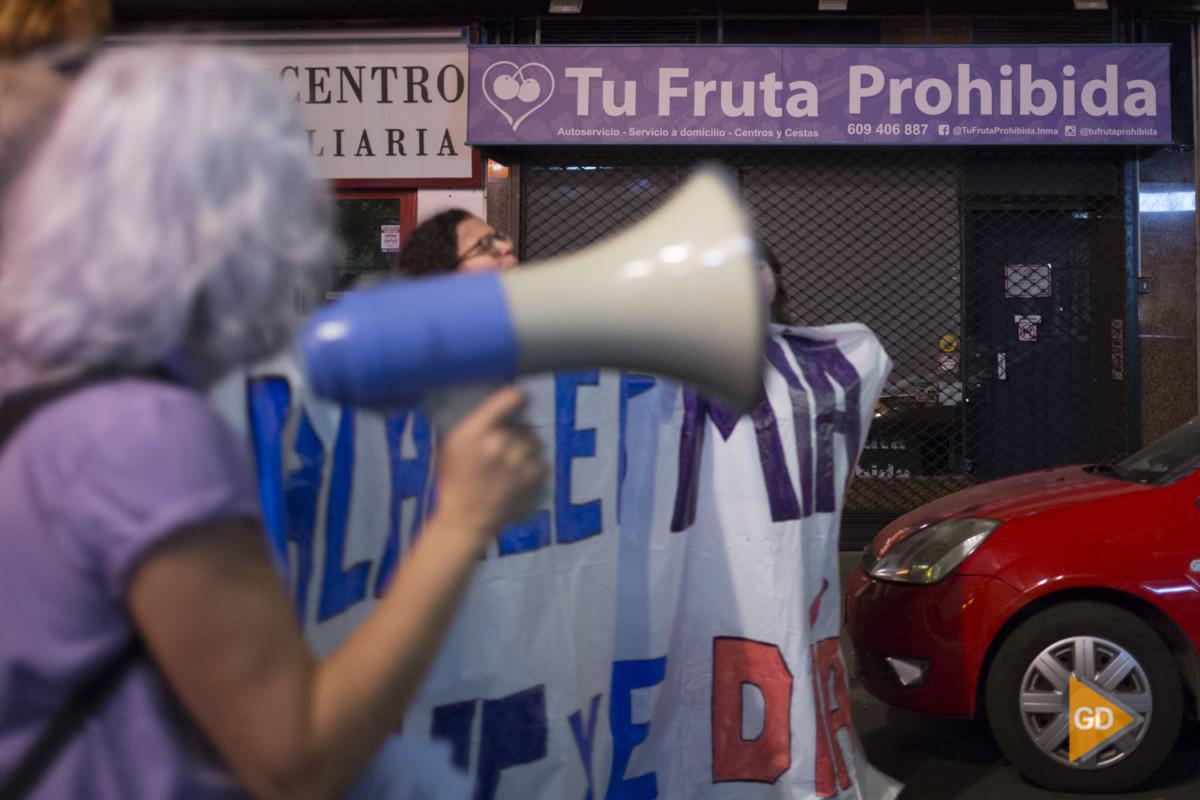 Manifestacion feminista en Granada
