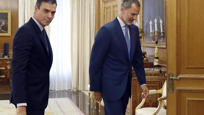 Pedro Sanchez y Rey Felipe