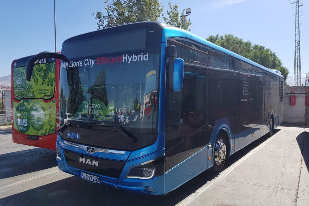 autobús Híbrido en pruebas marca Man