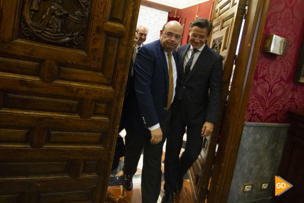 rueda de prensa de Luis Salvador y Sebastian Perez en el Ayuntamiento de Granada