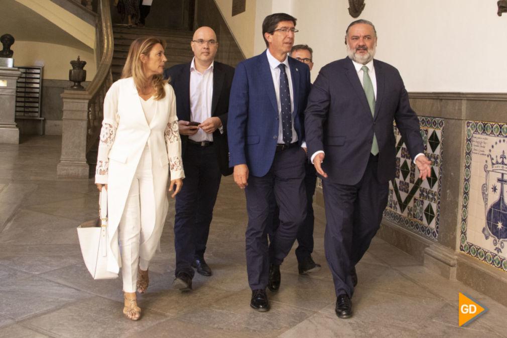 visita del Juan Marin al ayuntamiento de Granada