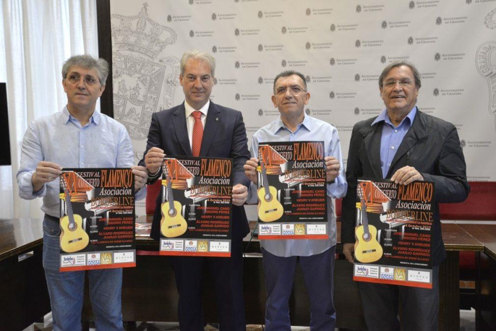 Presentación de un festival flamenco en beneficio de la Asociación Borderline