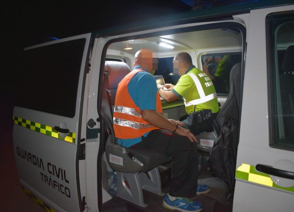 La Guardia Civil investiga al conductor de un vehículo articulado que quintuplicaba la tasa de alcoholemia en Cieza