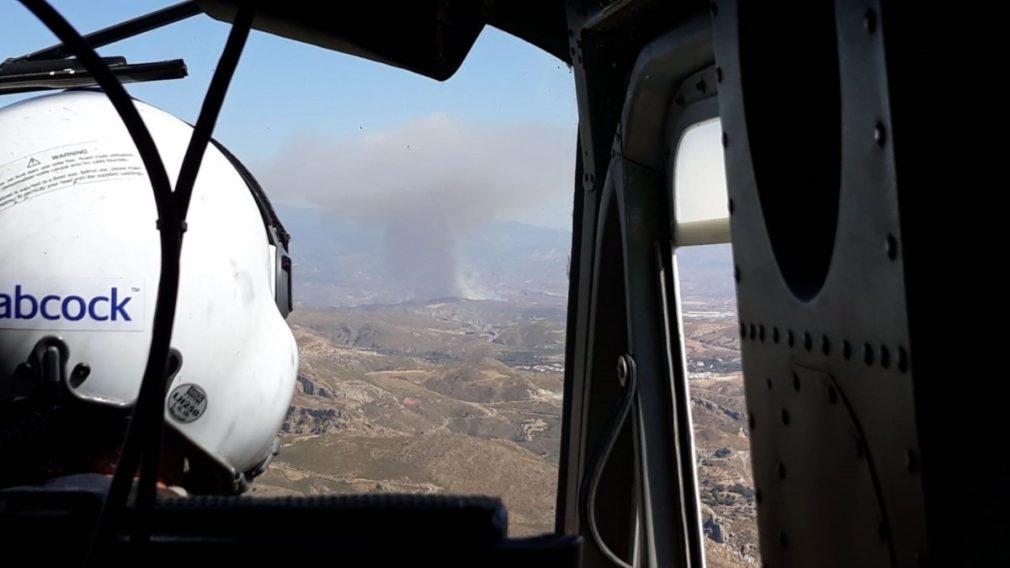 Declarado un incendio forestal en Válor