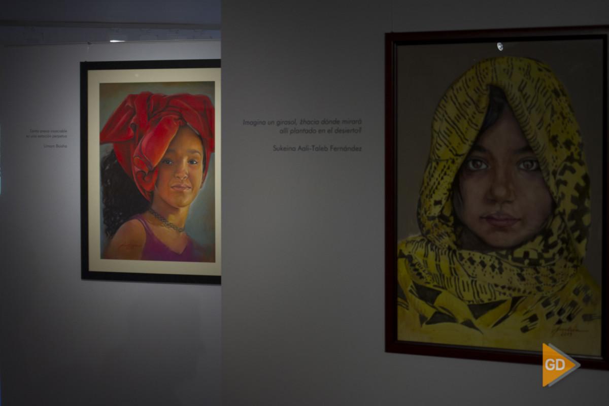 Inauguración de la exposición Sahararte solidario en la sala Zaida de Granada