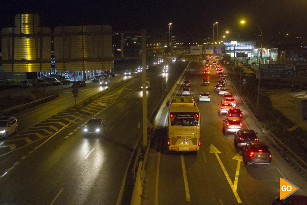 Circunvalación de Granada por la noche