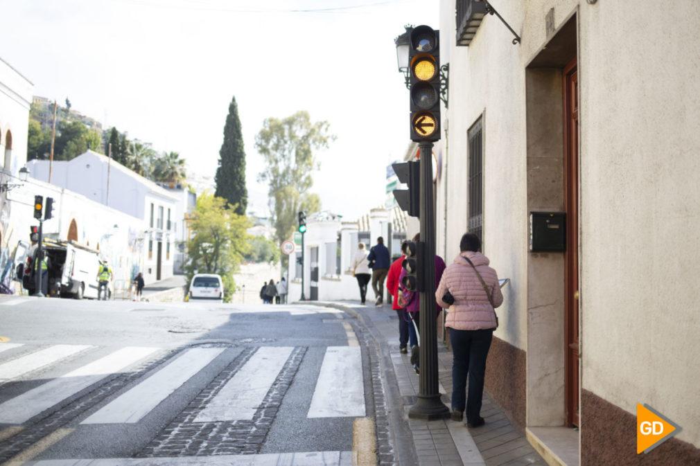 Semaforo de la calle Molinos en El Barrio del Realejo