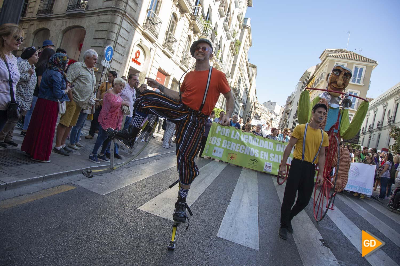 concentracion en Granada por el dia mundial de los enfermos de salud mental