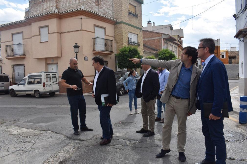 Arrancan las obras para paliar los efectos del temporal de lluvias en Churriana de la Vega