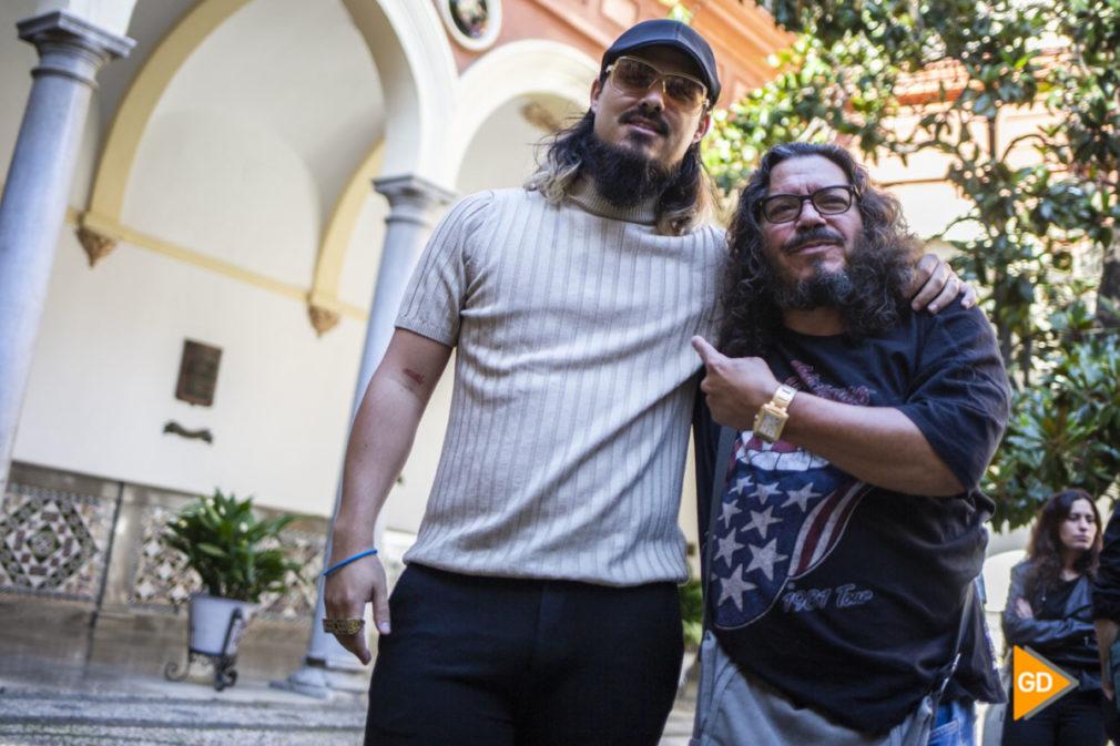 presentacion del concierto de Dellafuente con Raimundo Amador en la plaza de las pasiegas de Granada