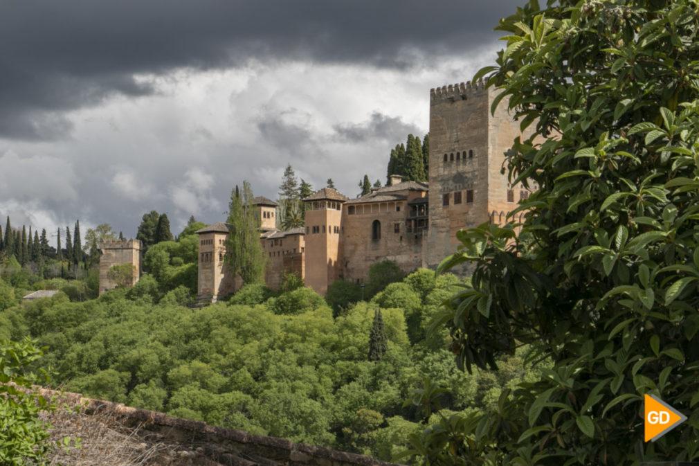 Alhambra niebla primavera tiempo nubes_