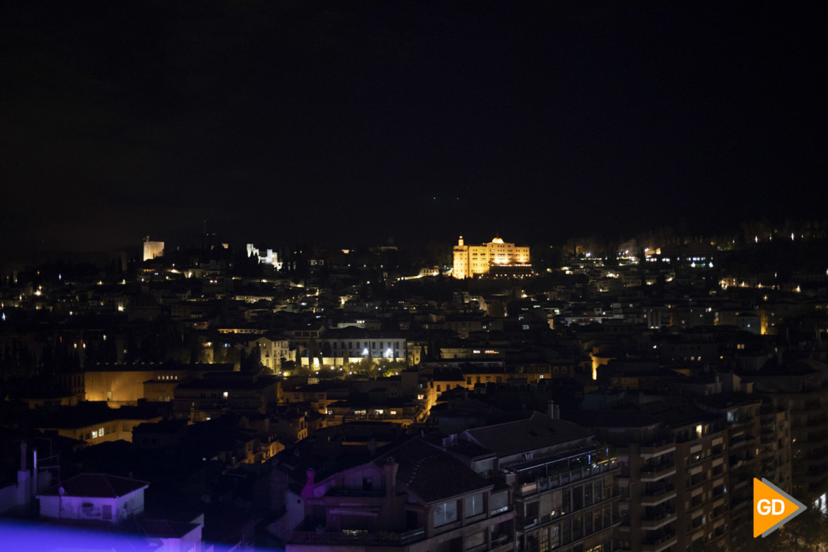 Inauguración de la noria en el paseo del salón en Granada