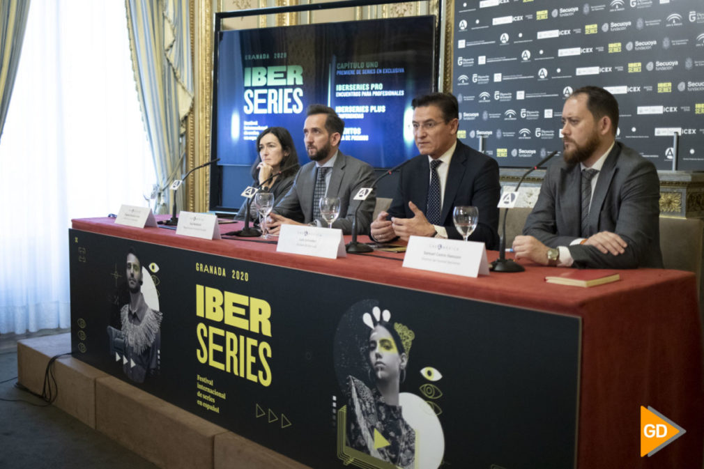 Presentación del festival Iberseries en la casa de America en Madrid