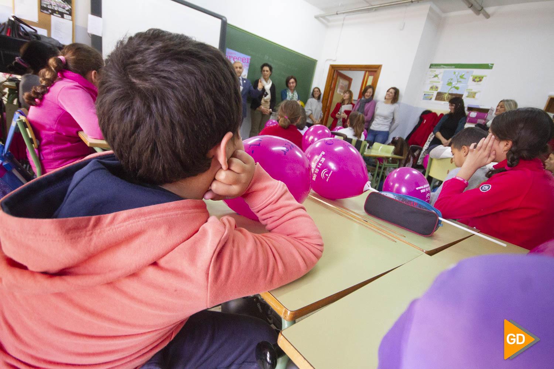 Visita del delegado de educacion al colegio Inmaculada del Triunfo