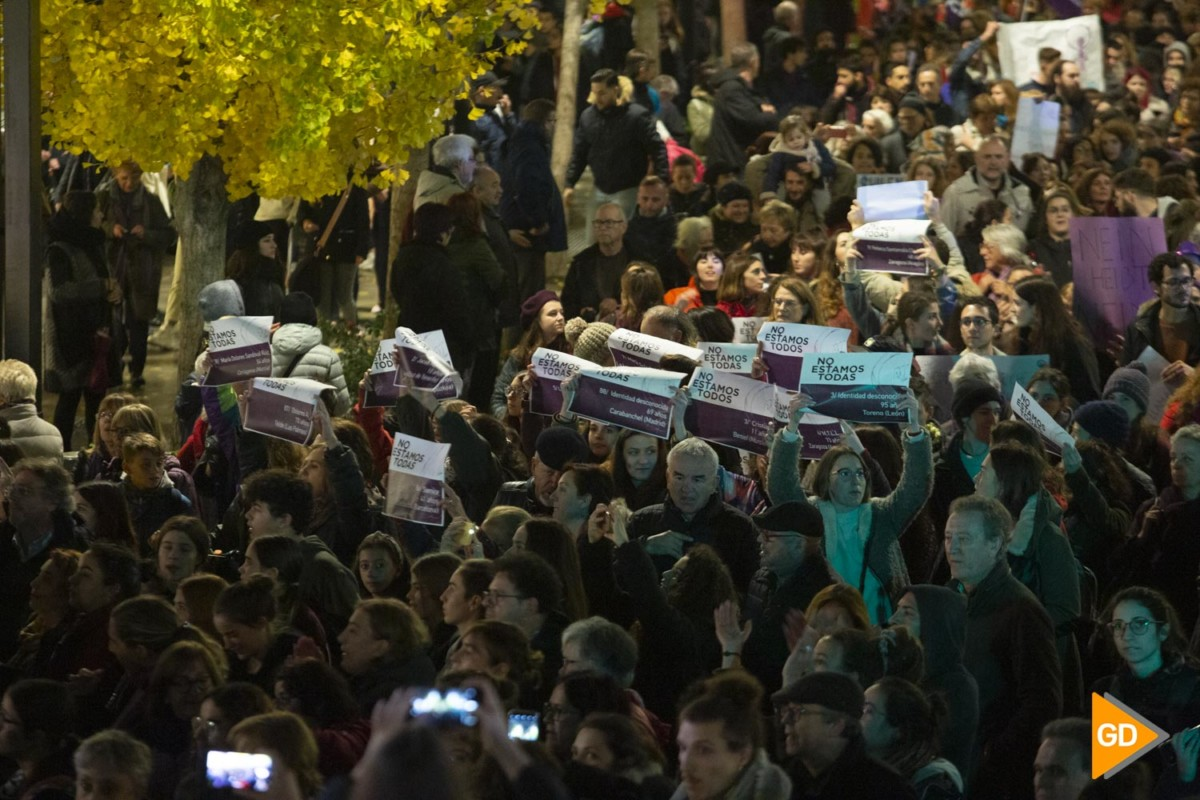 manifestacion contra la violecia de genero 25N en Granada
