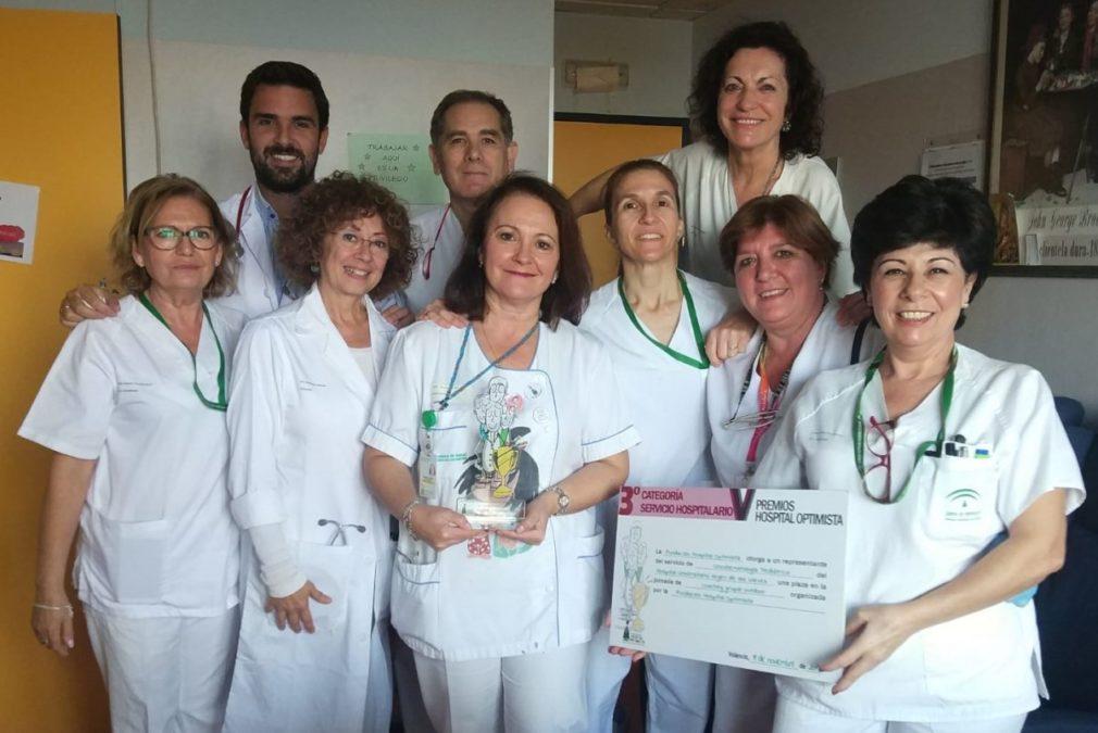 Parte del equipo de oncohematología pediátrica