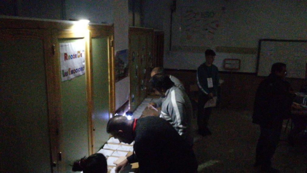 apagon colegio electoral zona norte
