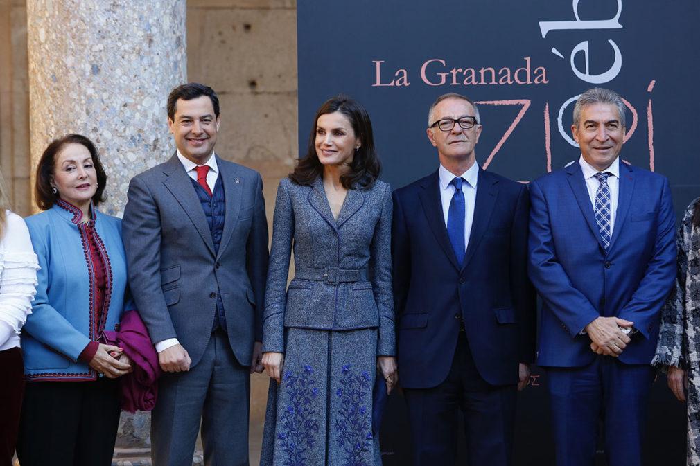 Granada.-La reina Letizia llega a la Alhambra para abrir la exposición que servirá de base al museo de cultura bereber