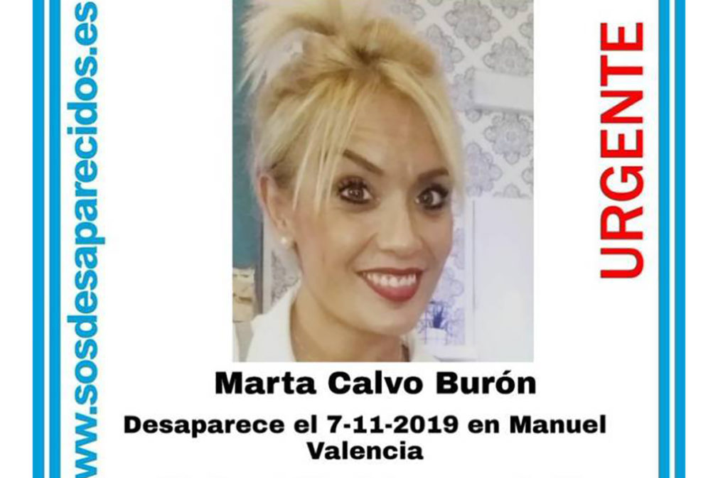 marta calvo desaparecida Valencia