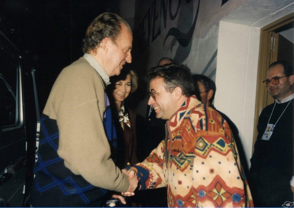 El Rey Juan Carlos junto a Jerónimo Páez