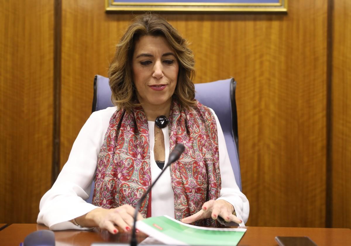 """AV.- Susana Díaz acusa a Moreno de """"poner en peligro la marca Andalucía"""" por """"mentir"""" sobre la """"falsa"""" intervención"""