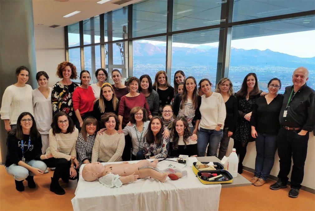 Granada.- Una treintena de profesionales del Hospital San Cecilio se forman en reanimación cardiopulmonar pediátrica