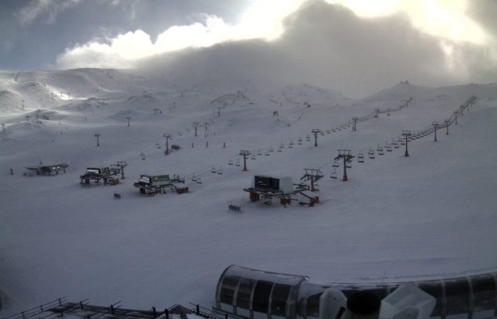 Granada.- Temporal.- Sierra Nevada cierra por segundo día consecutivo por fuertes rachas de viento