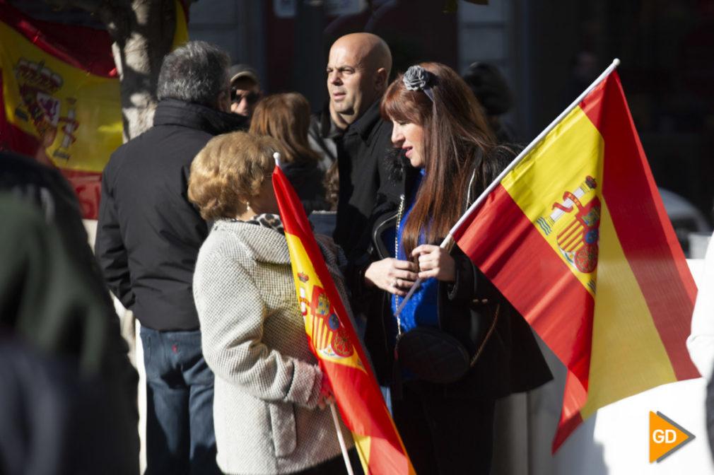 Concentración de España Existe en la Plaza del Carmen de Granda
