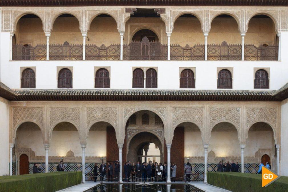 El consejero de la Presidencia, Administración Pública e Interior y las consejeras de Cultura y Fomento respectivamente visitan el conjunto monumental de la Alhambra y Generalife